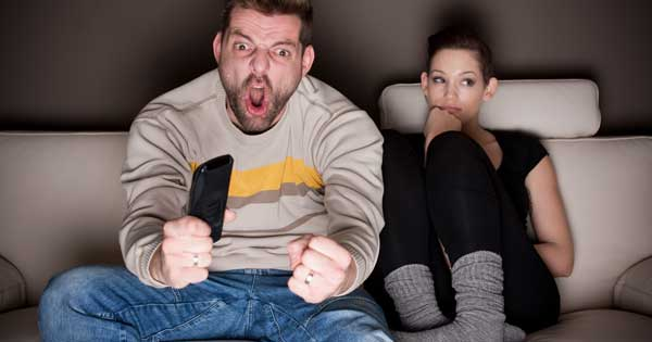 Men wonder how much longer they can get away with watching three games a day